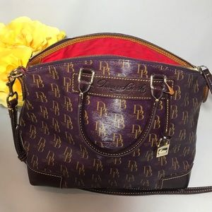 1975 Signature Purple Dooney & Bourke Satchel